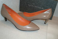 Via Spiga Womens NWB Angie Mushroom Leather Heels Shoes 7 MED NEW