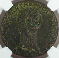 Claudius 41-54 AD, Bronze Sestertius, Roman Empire, NGC VF Ancient