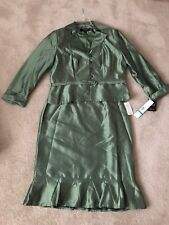 Signature by Larry Levine Olive Green Skirt & Jacket Set - Size 16 New with tags