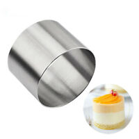 DIY Decorating Pastry Tool Mini Round Cake Mold Stainless Steel Mousse Ring