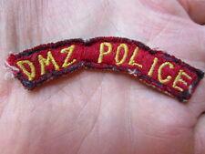 Korea War Era THEATER MADE DMZ Police Tab