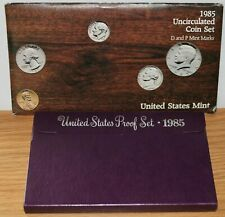 1985 P D S Proof and Uncirculated Annual US Mint Coin Sets 15 Coins Bundle PDS