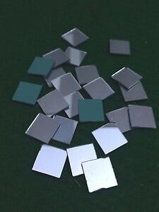 25 Mosaic Glass Shisha Mirrors 15mm Square for Embroidery Quilting Cardmaking M6