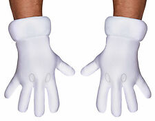 Super Mario Brothers Adults White Hand Gloves Halloween Disguise