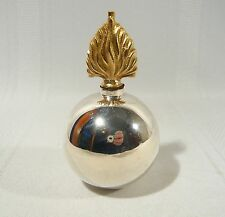 Very Rare Antique Victorian Birks Sterling Silver Grenade Table Lighter c 1890