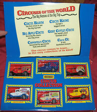 Old 1994 Matchbox The Circus Comes to Town Diecast Toy 1:64 Scale Vintage Trucks