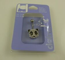 Panda head crystal  belly button ring, piercing, body jewelry from Claire's