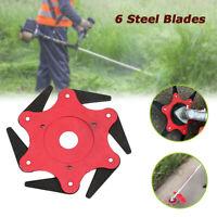 6 Steel Blades Razor Rotate Mower Grass Trimmer Head Cutter Blade For Garden