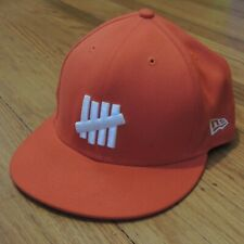Undefeated x New Era Fitted Hat Size 7 3/8 Orange White Cap