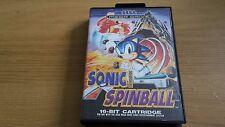 Sonic Spinball - Sega Mega Drive Game - Boxed + Manual + Poster - Megadrive