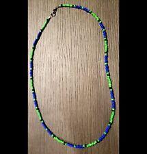 Le Jim Morrison Cobra Necklace The Doors Replica Handmade Glass Beads Green Blue