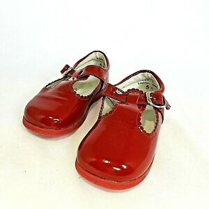 Shoes Red Mary Jane Patent Leather Baby Toddler Girls Shoes VTG Rachel Darla 5D