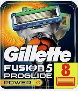 Gillette fusion Proglide power, 8 Lamette. Prodotto Nuovo, Sigillato Originale