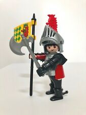 Playmobil Medieval Knights Castle 3887 Siege Tower Commander Figure Armor & Flag