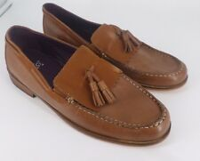 Gucinari Tan Tassel Leather Loafers UK 8 EU 42 JS077 DD 06