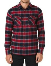 Vans Banfield Flannel Long Sleeve Shirt  Black/Red Dahlia Men's Size XL  New!!!