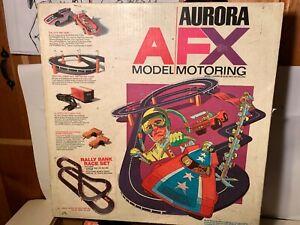 """AURORA"" AFX ""RALLY BANK RACE SET"" SLOT CAR RACE CARS # 1655 - EXTRA CARS TOO !"