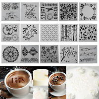 Flower DIY Fondant Cake Stencil Mold Coffee Spray Printing Template Decorations