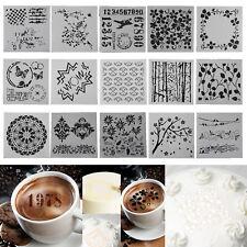 Flower DIY Fondant Cake Stencil Mold Coffee Spray Printing Template Decorations