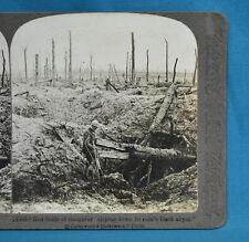 WW1 Stereoview Photo Red Fields Of Slaughter Desolation After Battle Underwood
