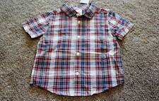 Gymboree 18-24 months Size Baby Boys Island Cruise Plaid Shirt Top NWT NEW
