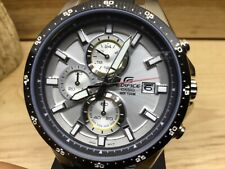 """Casio Men's EFR519-7AV """"Edifice"""" Active Line Stainless Steel and Resin Watch"""