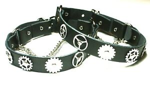 Pair Steampunk Boot Strap-Black-Silver-Biker-Rock-Gothic-Chain-buckle Accessory