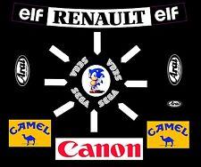 F1 casco Hill Arai Williams F1 Kit de pegatinas de Sonic 1.1 Talla Casco Motorsport