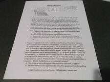 Law School Bar Exam MBE w/ audio explanations Contracts Sales multiple choice