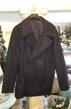Lacoste Marine Peacoat BH2877 Water Repellent Double Breasted Coat Men's XL new