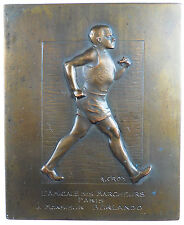 France Sports WALKING PRIZE thin embossed plaquette
