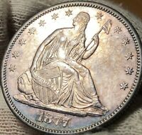 1877-S SEATED LIBERTY HALF DOLLAR - BU (UNCERTIFIED) - GORGEOUS COIN