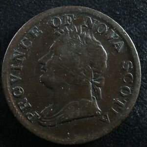 Halfpenny token Canadian Colonial #4 Free shipping Canada and the USA Week #34