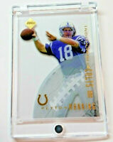 Peyton Manning RC Rare 1998 Factory Incomplete Rookie Card Gold Foil + New case