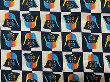 Star Wars Darth Vader Rainbow Cotton Fabric Sold by the FAT QUARTER 18'x21