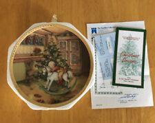 "Lisi Martin ""Christmas Dreams"" Collector Plate C.O.A. #0841B 23k Gold Vintage"