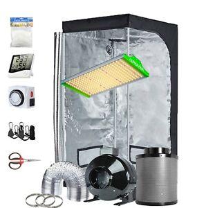 TopoGrow Grow Tent Kit Complete Led Grow Light+Indoor Grow Tent+Ventilation Kit