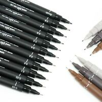 Uni Pin Fine Liner Pen Pigment Marker Waterproof Ink - 0.03mm - 0.8mm - Brush