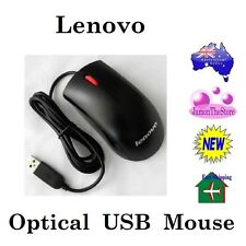 Lenovo USB Optical Mouse Black With Red Scroll Wheel Model 45J4889 Part OB66364