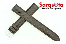 deBeer Genuine Lizard Turned Edge 17 x 16 mm Long Stitched Watchband Brown Color