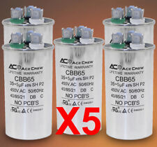 35/5 Dual Run Capacitor Lot of 5 MFD/UF 450VAC AC Electric Motor =LIFE WARRANTY=