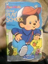 MONCCHICHI Vintage 1983 We Love Play School GOLDEN Book SEKIGUCHI Plush Monkey