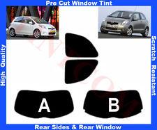 Pre-Cut Window Tint Toyota Yaris 3D 2006-2011 Rear Window & Rear Sides Any Shade