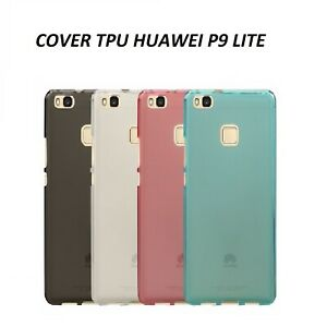 Custodia Cover per Huawei P9 Lite gomma vari colori tpu silicone gel morbida