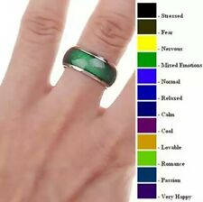 Anello acciaio cambia colore umore /Women's ring steel change colour mood ring