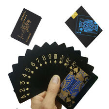 Waterproof Gold Black Plastic PVC Poker Magic Table Board Game Playing Cards