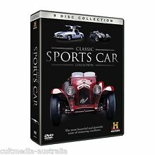 CLASSIC SPORTS CARS COLLECTION HISTORY CHANNEL DOCUMENTARIES NEW 9 DVD BOXSET R4