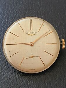 Vintage Longines 12.68Z gents watch movement, with nice textured dial . Working