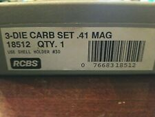 Rcbs Reloading 3 Die Carb Set .41 Mag w/ shell holder included