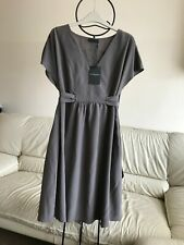 BNWT THE WHITE COMPANY 100% silk tie back dress in mink taupe uk 14 L